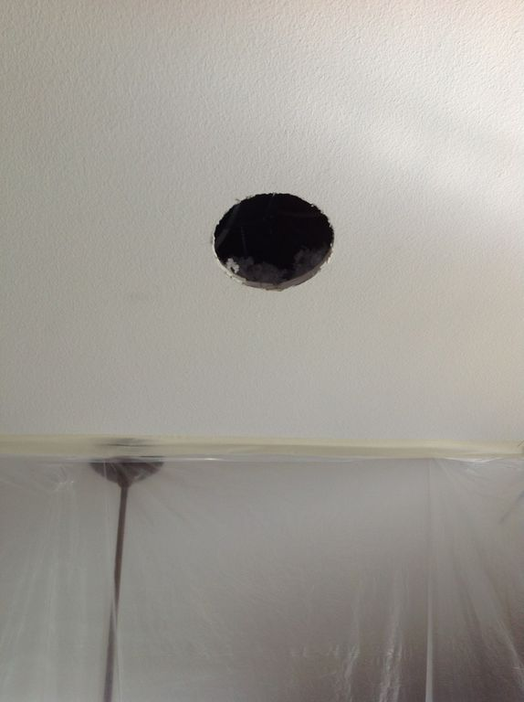 circular ceiling hole before